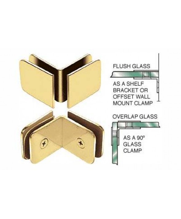 Traditional Oversized 90° Glass Clamp