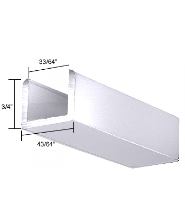 U-Channel for 1/2 inch Thick Glass