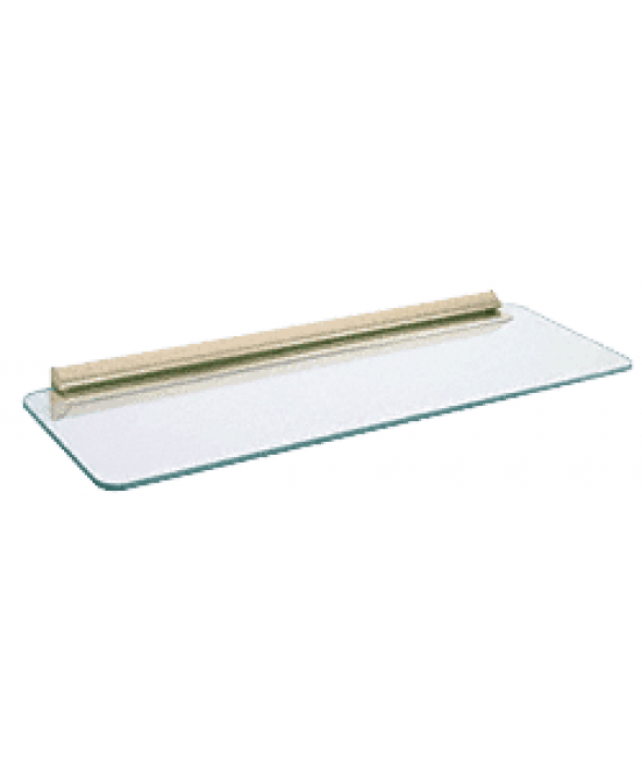 8 X 24 inch Decorative Glass Shelf Kits w/ Bracket