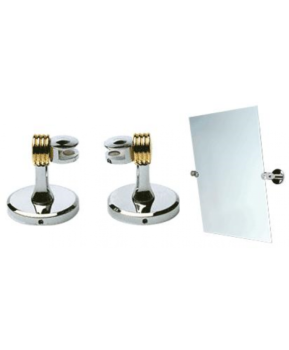 Brass and Chrome Contemporary Mirror Pivots