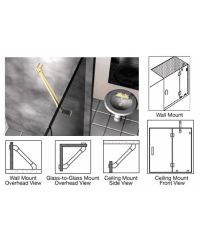 Through-Glass Mounted Support Bar