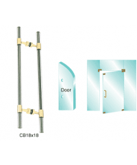 Glass Mounted Ladder Style Pull with Acrylic Full Inserts Pull Handle