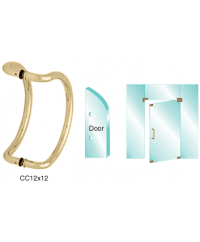 12 inch Glass Mounted Curved Pull Handle