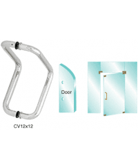 12 inch Glass Mounted Elbow Style Pull Handle