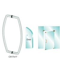 17 inch Glass Mounted Curved Pull Handle