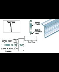 Translucent Vinyl Edge T Wipe for 7/16 Maximum Gap