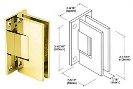 Vienna Series Full Back Wall Mount Hinges