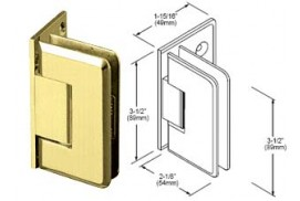 Pinnacle Series Wall Mount Offset Back Plate Hinges
