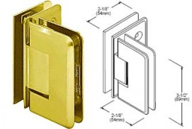 Pinnacle Series 90° Glass-To-Glass Hinges