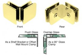 Traditional Standard 90° Glass Clamp