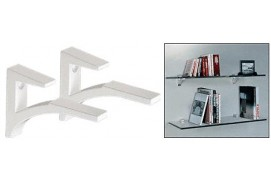 ALUMINUM SHELF BRACKET FOR 3/8 TO 1/2