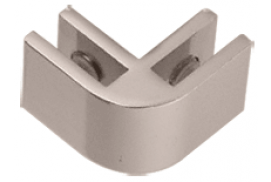Chrome Anodized Aluminum 2-Way 90° Connectors for 1/4 inch Glass