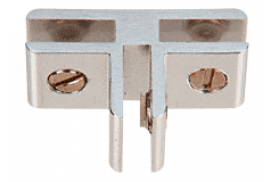 Chrome Anodized Aluminum 3-Way 90° Connectors for 1/4 inch Glass