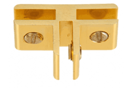 Gold Anodized Aluminum 3-Way 90° Connectors for 1/4 inch Glass