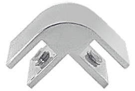 Anodized Chrome 2-Way 90° Economy Glass Connector for 3/8 inch Glass