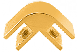 Anodized Gold 2-Way 90° Economy Glass Connector for 3/8 inch Glass