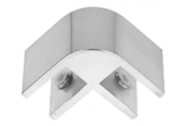 Anodized Chrome 2-Way 90° Economy Glass Connector for 1/2 inch Glass