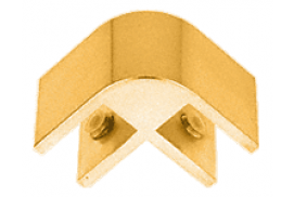 Anodized Gold 2-Way 90° Economy Glass Connector for 1/2 inch Glass