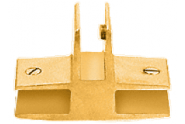 "Anodized Gold 3-Way 90° ""T"" Economy Glass Connector for 1/2 inch Glass"