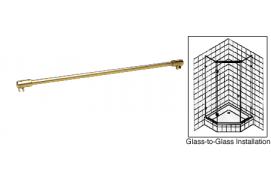 Glass-To-Glass Support Bar for 3/8 to 1/2 inch Thick Glass