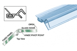 Polycarbonate Door Jamb for 135º for 3/8 Glass