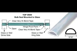 Translucent Silicone Bulb Seal