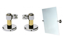 Brass and Chrome Deco Mirror Pivots