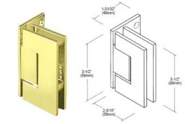 Geneva Series Wall Mount Offset Back Hinges