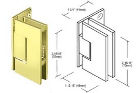 Junior Geneva Series Wall Mount Offset Hinges