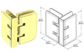 Estate Series 90° Glass-to-Glass Hinges
